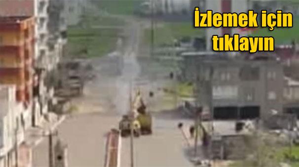 Şırnak İdil'de askerler ayrıldı, iş makinaları geldi