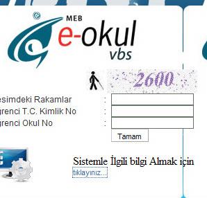 E-okul veli bilgilendirme sistemi girişi! E-okul Yönetim bilgi sistemine giriş!