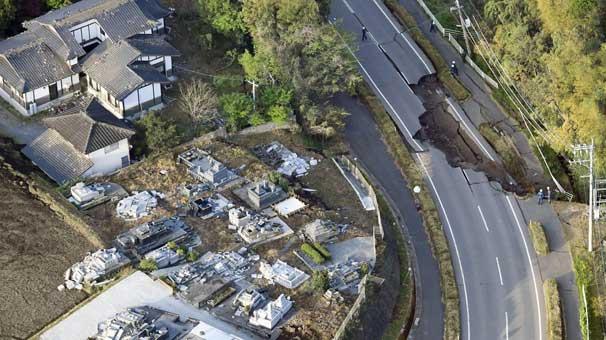 Japonya'da depremde en az 9 kişi öldü