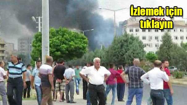 Mardin Midyat Emniyet Müdürlüğü'ne bomba yüklü araçla saldırı