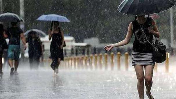 Meteoroloji'den sağanak yağış uyarısı ile ilgili görsel sonucu