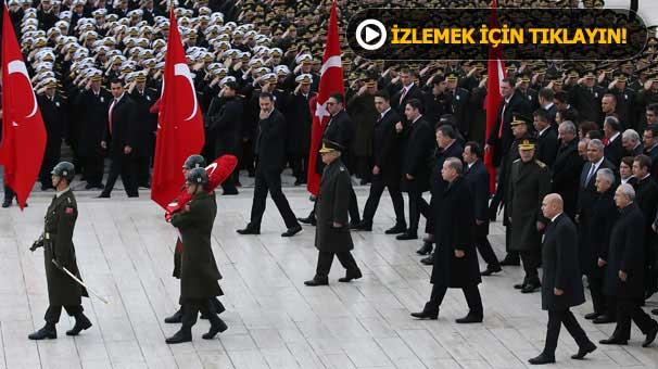 Anıtkabir 'de 10 Kasım töreni