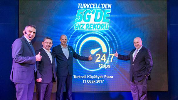 Turkcell 5G testinde 24 7 Gbit hıza ulaştı