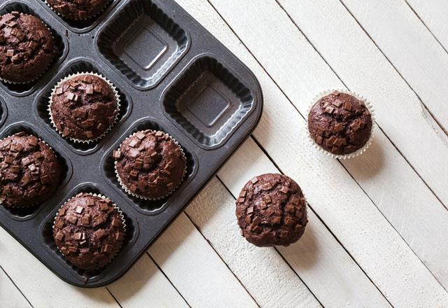 Kolay ve pratik kakaolu muffin tarifi