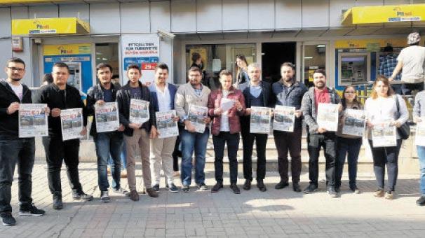 CHP liderine  'gazete' gönderdiler