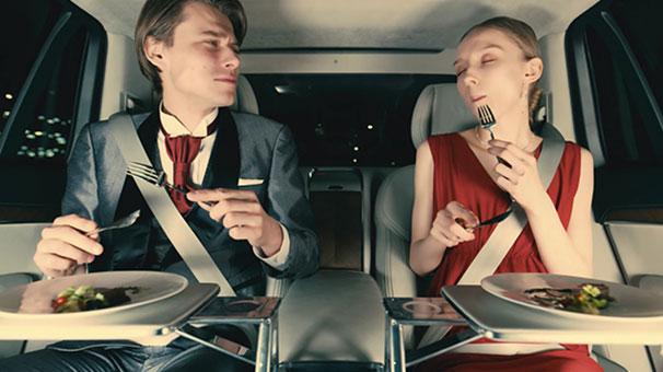 Volvo ve Uber lüks restoran deneyimi sunuyor
