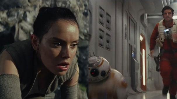 Efsanevi seri Star Wars´den yenisi Star Wars: The Last Jedi´den ilk fragman..