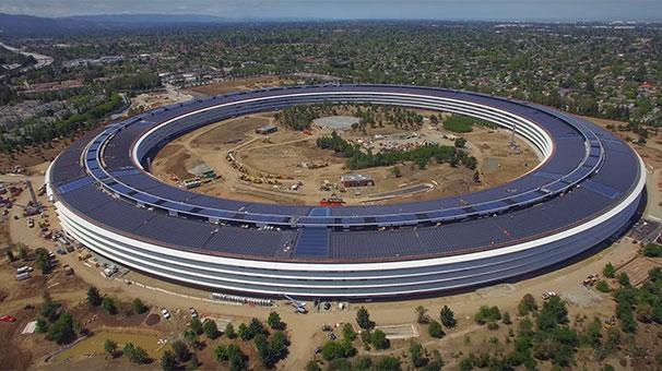 Apple Park'ın son hali 4K görüntülerle gözler önüne serildi