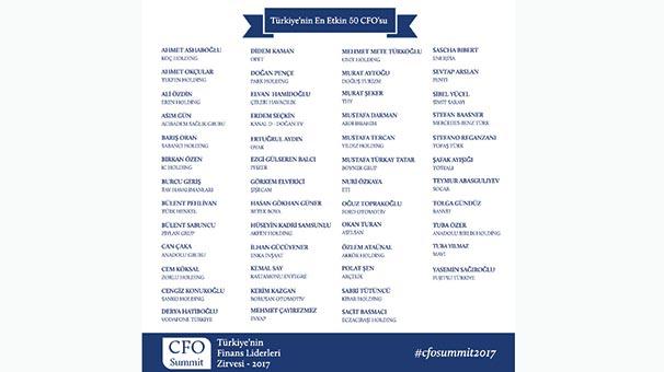 50 CFO'ya ödül yağmuru