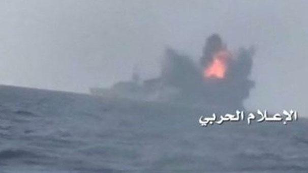 Suudi Arabistan savaş gemisi vuruldu