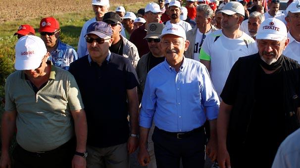 'Adalet Yürüyüşü'nün 2. günü tamamlandı