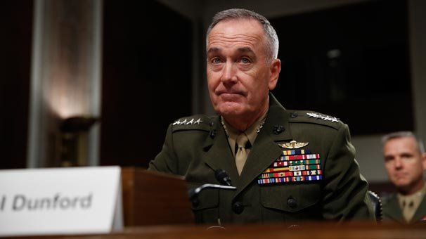 Dunford, ABD'nin Askeri Seçenekleri Konusunda Uyardı ile ilgili görsel sonucu