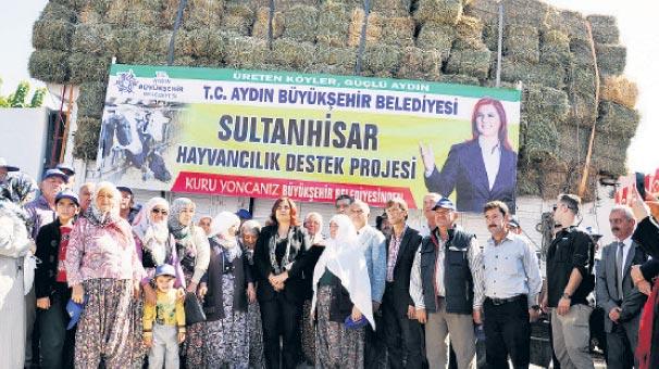 Aydın'da çiftçinin yoncası Çerçioğlu'ndan
