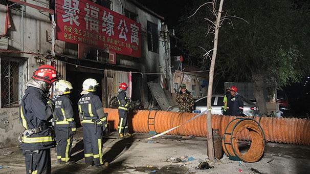 Çin'in başkenti Pekin'de yangın: 19 ölü
