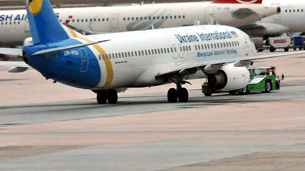 Ukrayna uçağına bomba ihbarı