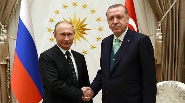 Son dakika... Cumhurbaşkanı Erdoğan, Putin ile Suriye'yi görüştü