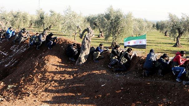 ÖSO birlikleri Afrin'de bulunan terör örgütü PYD'nin alanlarına girmeye başladı