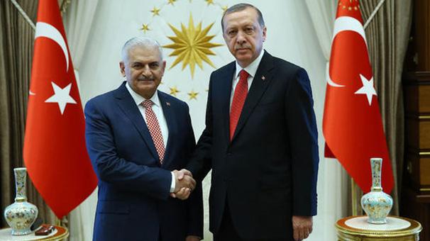 Cumhurbaşkanı Erdoğan, Başbakan BinaliYıldırım'ı kabul etti