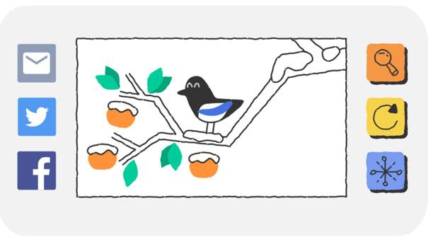 Doodle Kış Oyunlarının 1. günü (2018 Kış Olimpiyatları başlıyor)