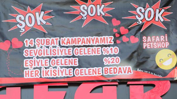Rize'de gülümseten Sevgililer günü kampanya afişi
