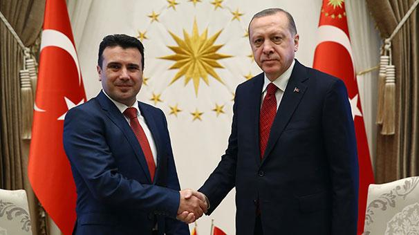 Cumhurbaşkanı Erdoğan, Makedon Başbakanı kabul etti