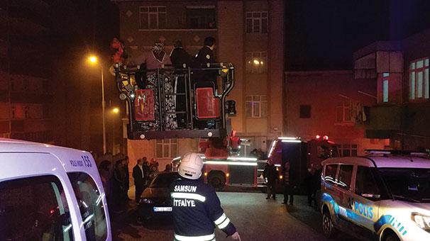 Samsun'da yangında 3 kişi hastanelik oldu
