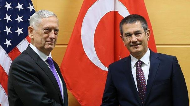 Milli Savunma Bakanı Canikli ile ABD Savunma Bakanı Mattis'in görüşmesi sona erdi