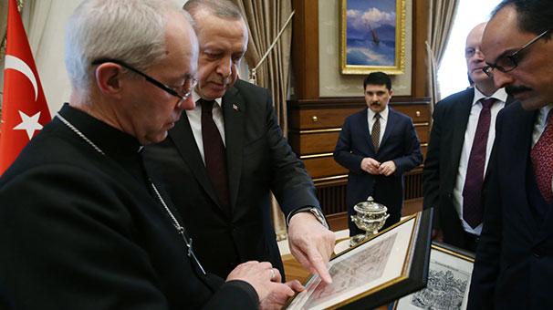 Cumhurbaşkanı Erdoğan, İngiltere Anglikan Kilisesi Başpiskoposu'nu kabul etti