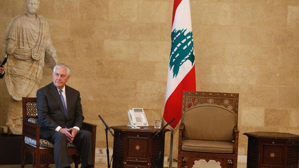 Fotoğraf olay yarattı! Tillerson'a Lübnan'da şok...