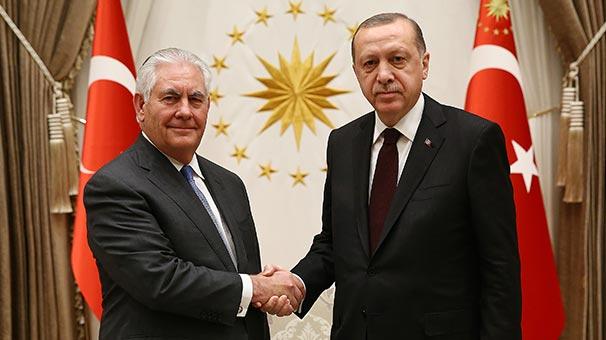 Son Dakika... Cumhurbaşkanı Erdoğan-Tillerson görüşmesi sonrası ilk açıklama