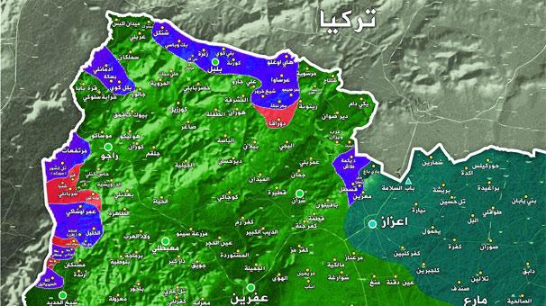 Son dakika... Ve Afrin'de harita değişti! Batı cephesinde hatlar birleşti...