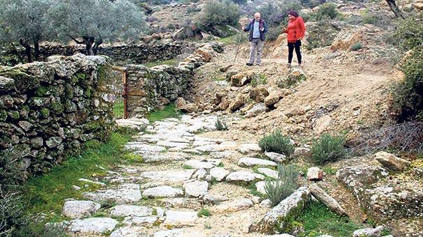 Antik Yollar : 2 bin 300 yıllık antik yola kıydılar son dakika haberler