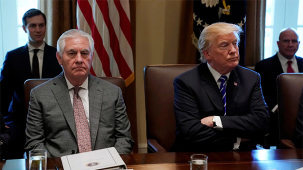 Son dakika... Trump'tan tarihi karar! Tillerson'ın kovdu, Pompeo'yu alıyor