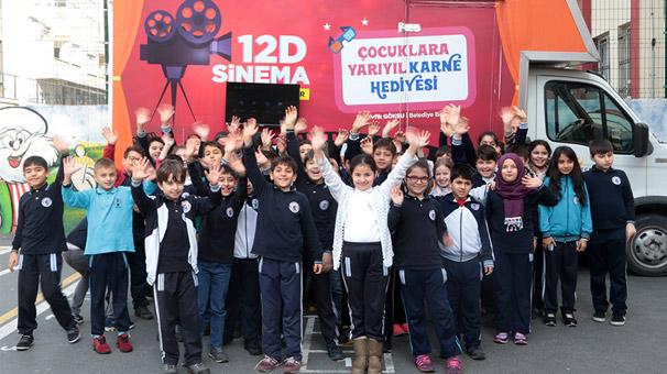 Çocukların 12D sinema keyfi