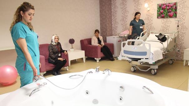 Devlet hastanesinde jakuzide doğum: 5 yıldızlı otel konforunda 60