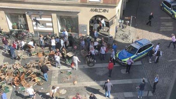 Son dakika... Almanya'da korkunç saldırı! Aracıyla insanların arasına daldı ve...