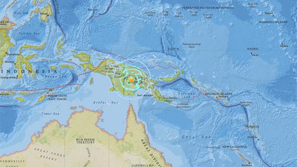 Son dakika... Papua Yeni Gine'de bir deprem daha