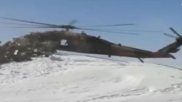 Görevini tamamlayan asker ve korucular helikopterler ile Kato Dağı'ndan indirildi