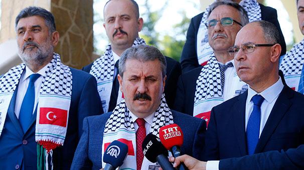BBP lideri Destici'den Filistin'in Ankara Büyükelçiliği'ne destek ziyareti