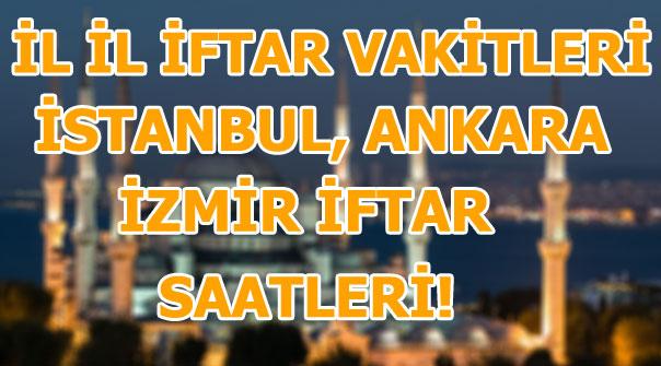16 Mayıs iftar ve imsak vakitleri! İl il Ramazan imsakiyesi