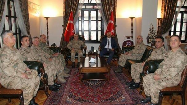 Orgeneral Arif Çetin'den Elazığ Valisi Çetin Kaldırım'a ziyaret