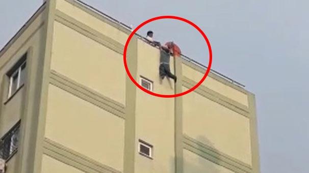 Adana'da korku dolu dakikalar! 8. kata çıkan bir kişi...