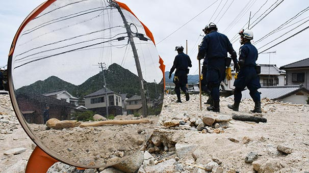 Japonya'daki sel felaketi   Ölü sayısı 176'ya yükseldi!