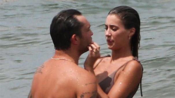 Ed Westwick ile Jessica Serfaty sahilde aşka geldi