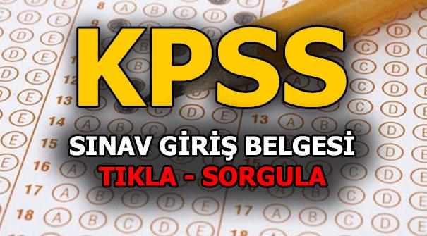 KPSS giriş yerleri açıklandı! 2018 KPSS lisans sınav giriş yeri sorgulama!