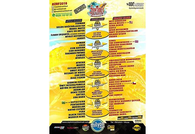 Zeytinli Rock Festivali Edremit Akçay'da