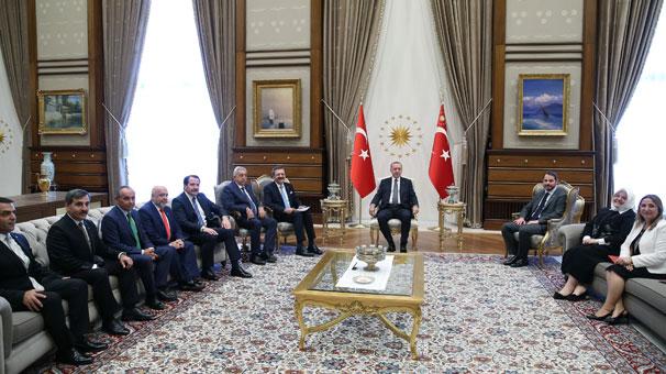 Cumhurbaşkanı Erdoğan, TOBB Başkanı  ve heyetini kabul etti