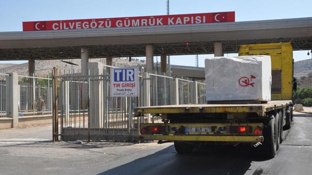 Cilvegözü'nden Suriye'ye mermer ihracatı