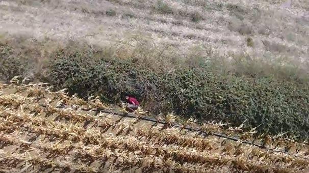 Çanakkale'de drone ile nefes kesen kovalamaca