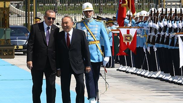 Kazakistan Cumhurbaşkanı Nursultan Nazarbayev Beştepe'de